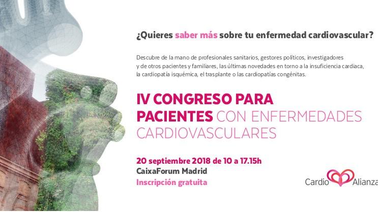 Cardioalianza celebra el IV Congreso para pacientes con enfermedades cardiovasculares