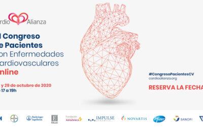 VI Congreso de Pacientes con Enfermedades Cardiovasculares. 28 y 29 de octubre, de 17h a 19h. ¿Ya te has inscrito?