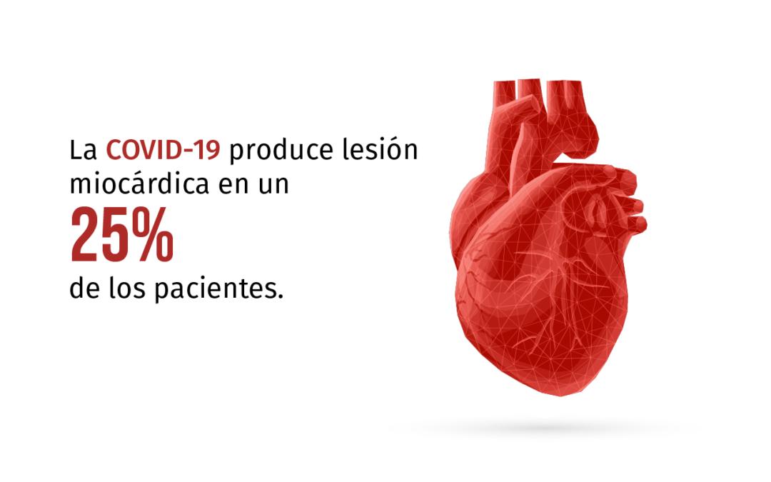La Covid-19 produce lesión miocárdica en un 25% de los pacientes